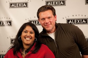 Farihah Ali, left, with celebrity chef Tyler Florence.
