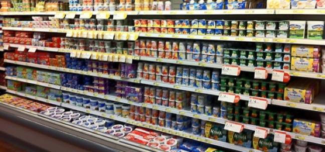 Yogurt at grocery