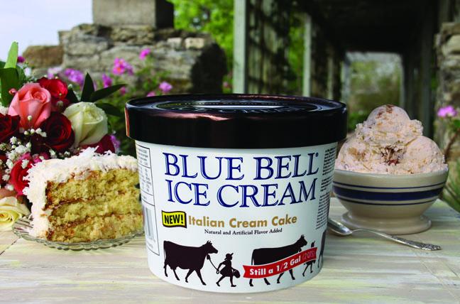 Outstanding Blue Bell Introduces Delicious Italian Cream Cake Ice Cream Personalised Birthday Cards Veneteletsinfo