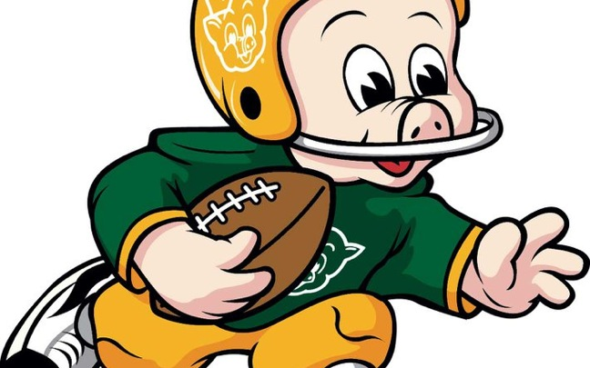 Piggly Wiggly Wisconsin pig football