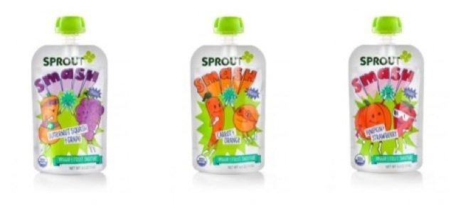 Sprout Smash organic snack line for kids