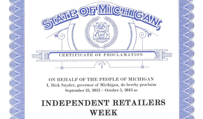 State of Michiga, proclamation