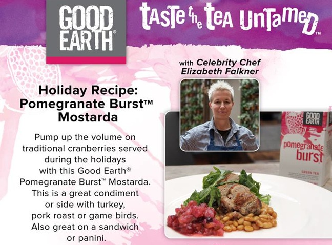 Good Earth tea and E. Falkner team up