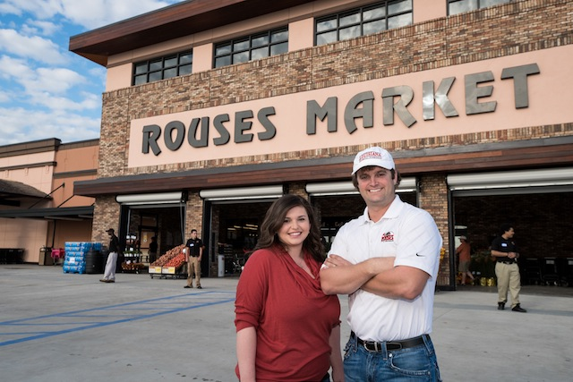 Ali Rouse Royster and Donny Rouse in front of the new store.