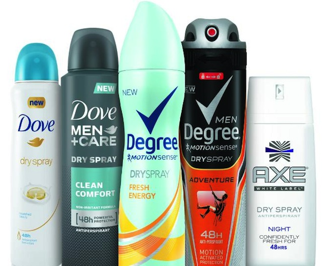 Unilever New Dry Spray Antiperspirants