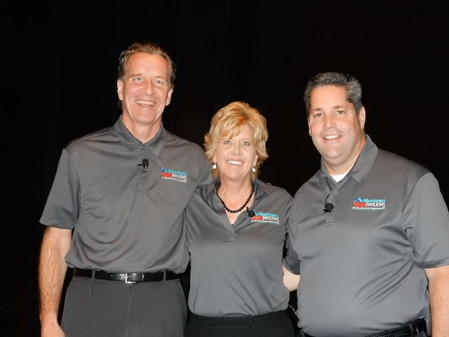 Members of the Southern California Division leadership team: Andy Barker, SVP-operations; Lori Raya, president; and Greg McNiff, SVP of marketing and merchandising.