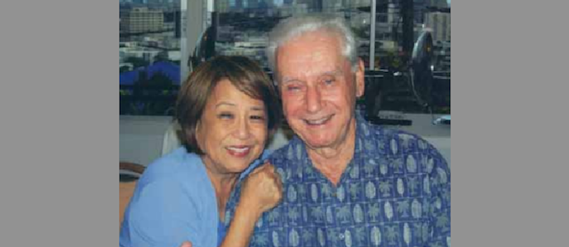 Mr. Roger Godfrey with his wife Signe.
