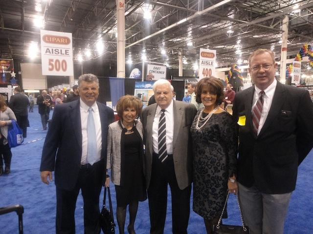 Thom and Connie Lipari and Jim and Rose Lipari, Lipari Foods; Geoff Welch, The Shelby Report.