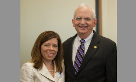 Kathy Kuzava with Georgia Agriculture Commissioner Gary Black.