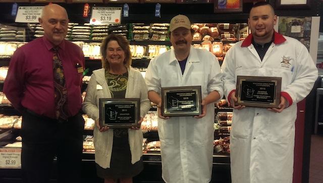 Pat and Lori Fox; Dean Rindahl, sausage maker; and Kurtis Lam, assistant sausage maker.