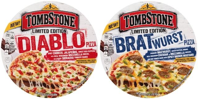 Nestle Tombstone Diablo and Bratwurst pizza