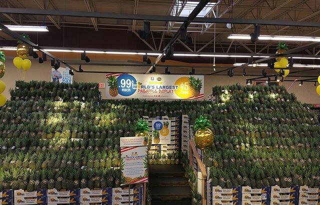 Food City pineapple display