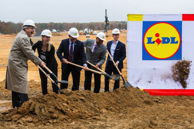 Lidl's groundbreaking in Fredericksburg, Virginia.