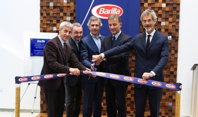 Barilla leaders celebrate the grand opening of their new Region Americas Headquarters in Northbrook, Illinois. Pictured are Vice Chairman Luca Barilla, Region Americas President Jean-Pierre Comte, Vice Chairman Paolo Barilla, CEO Claudio Colzani and Chairman Guido Barilla.