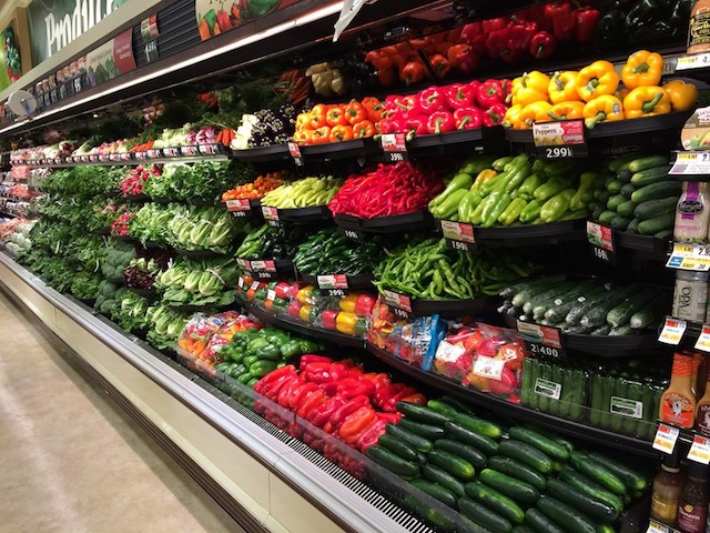 supermarket veggies