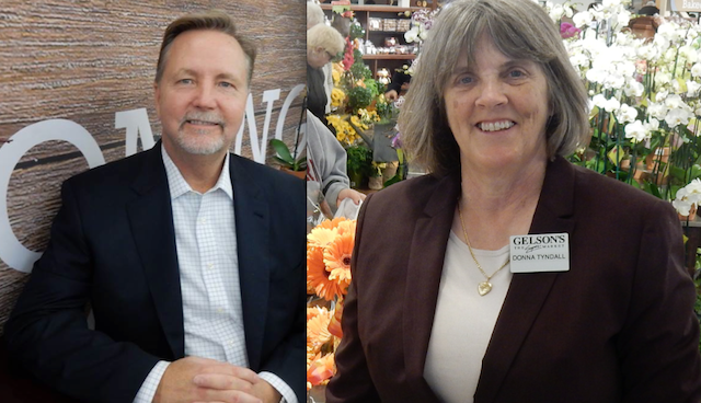 Rob McDougall and Donna Tyndall during Gelson's Markets' most recent new store opening in Del Mar, California.