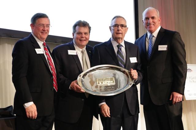 Peter Larkin, NGA; Rick Brindle, Mondelēz; Roger Lowe Sr., Lowe's Market; and Randy Arceneaux Affiliated Foods.