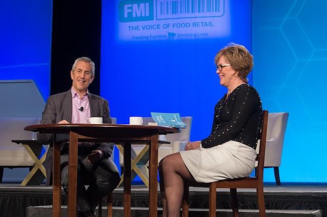 Danny Meyer with FMI's Leslie Sarasin at FMI Midwinter 2016.