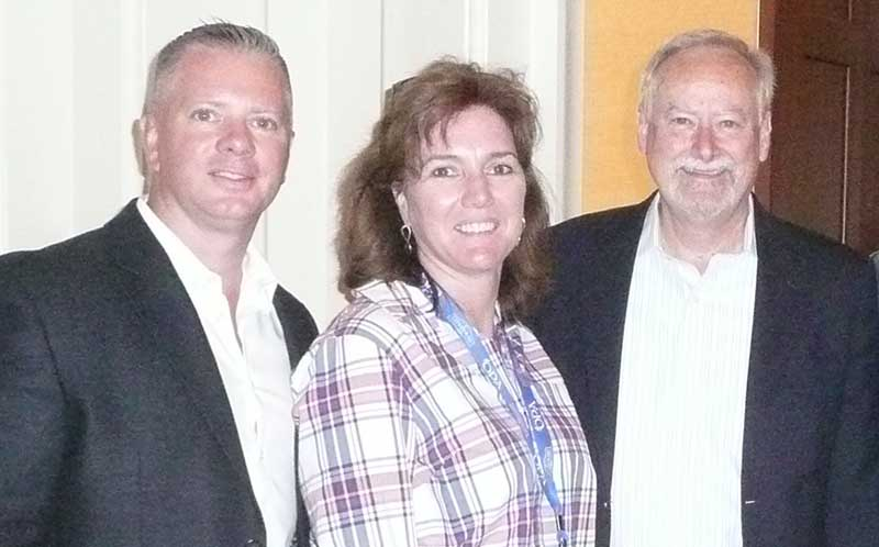 Anthony Sattler of C&S Wholesale Grocers, New England Produce Council president; Laura Sullivan, New England Produce Council executive director; and Tom Stenzel, leader of the United Fresh Produce Association.