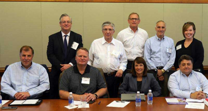 Pictured are several of those involved with the development of Niagara's food and consumer packaged goods marketing concentration, including Drew Cerza, Dr. Paul Richardson, Robert Denning, Robert Castellani, John Zimmerman, Jamie McKeon, Bob Ferretti, William Chiodo and Cathleen Anderson.
