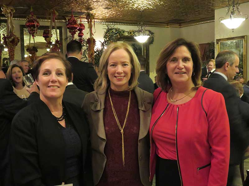At the New Jersey Food Council's holiday event areSuzanne DelVecchio, QuickChek Corp.; Judy Spires, Kings Food Markets; and Linda Doherty, NJFC.
