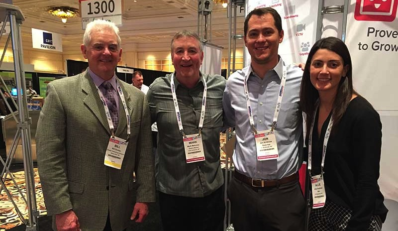 Bill Dooley, The Shelby Report; Mark Mahoney, Dash's Market; Jon Ambrose, Rosie; and Allie Friedman, EMA, representing Rosie, at the 2017 NGA Show.