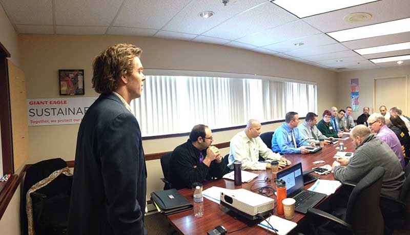 GSC Program Manager Peter Cooke recently led a training session on operational sustainability for Giant Eagle employees.