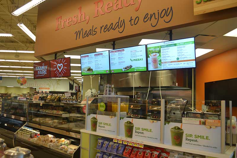 Eighty-three Family Fare Supermarkets in five states now are displaying caloric information, encouraging store guests to make healthier food choices.