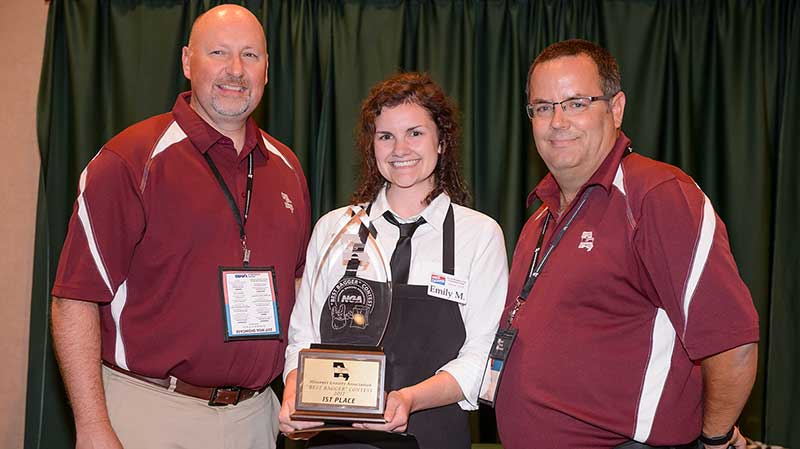 Emily McCoy of Consentino's Price Chopper is Missouri's best grocery bagger.