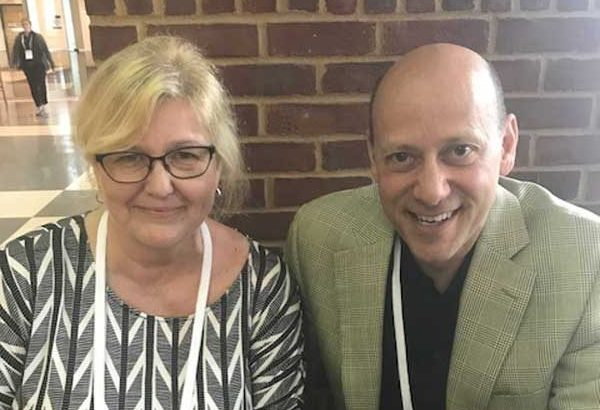 The Shelby Reports Terrie Ellerbee with Supervalu President and CEO Mark Gross.