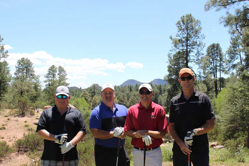 """The """"Sprouts Oldtimers"""" golf team"""