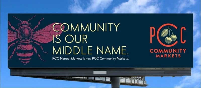 PCC Community Markets billboard