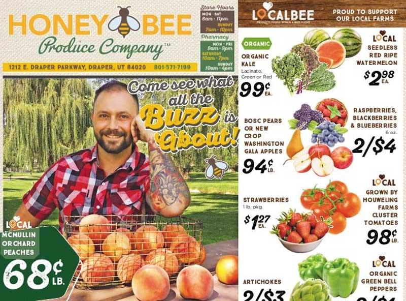 Honey Bee Produce Co. website screenshot