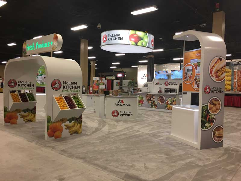 McLane Co.'s interactive kitchen at its 2017 national trade show