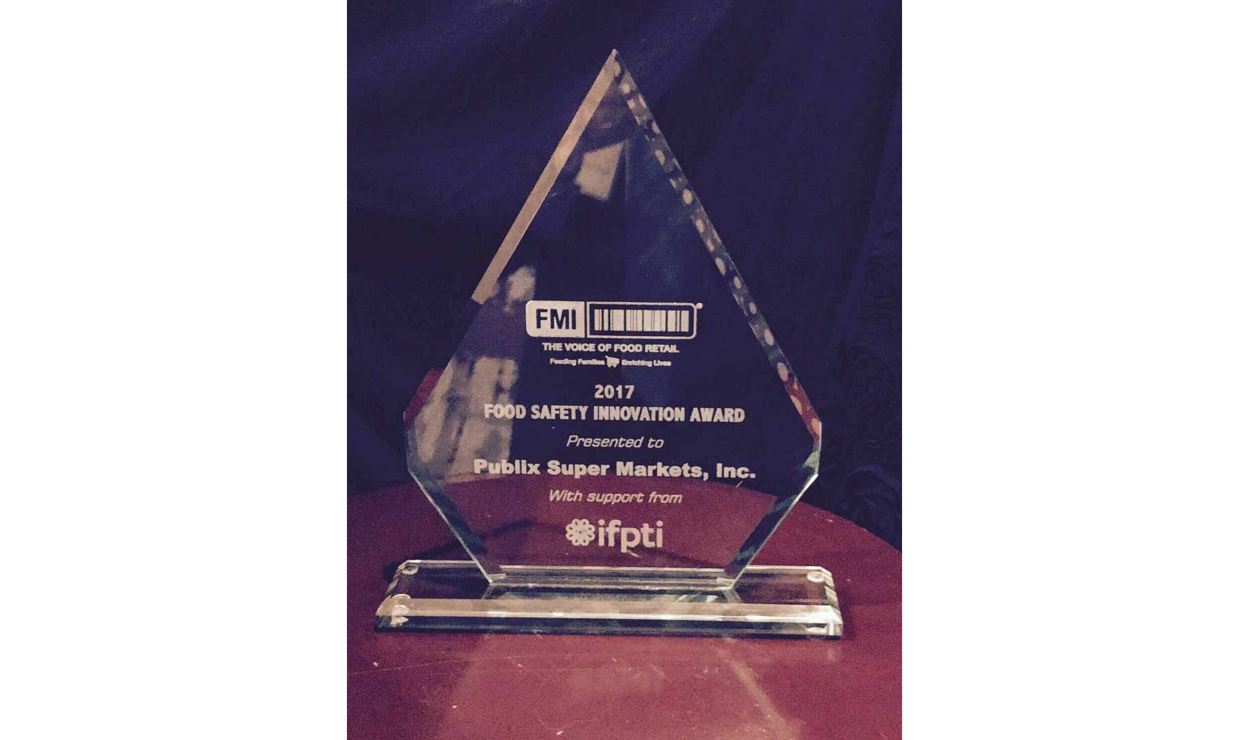 FMI's Food Safety Innovation award