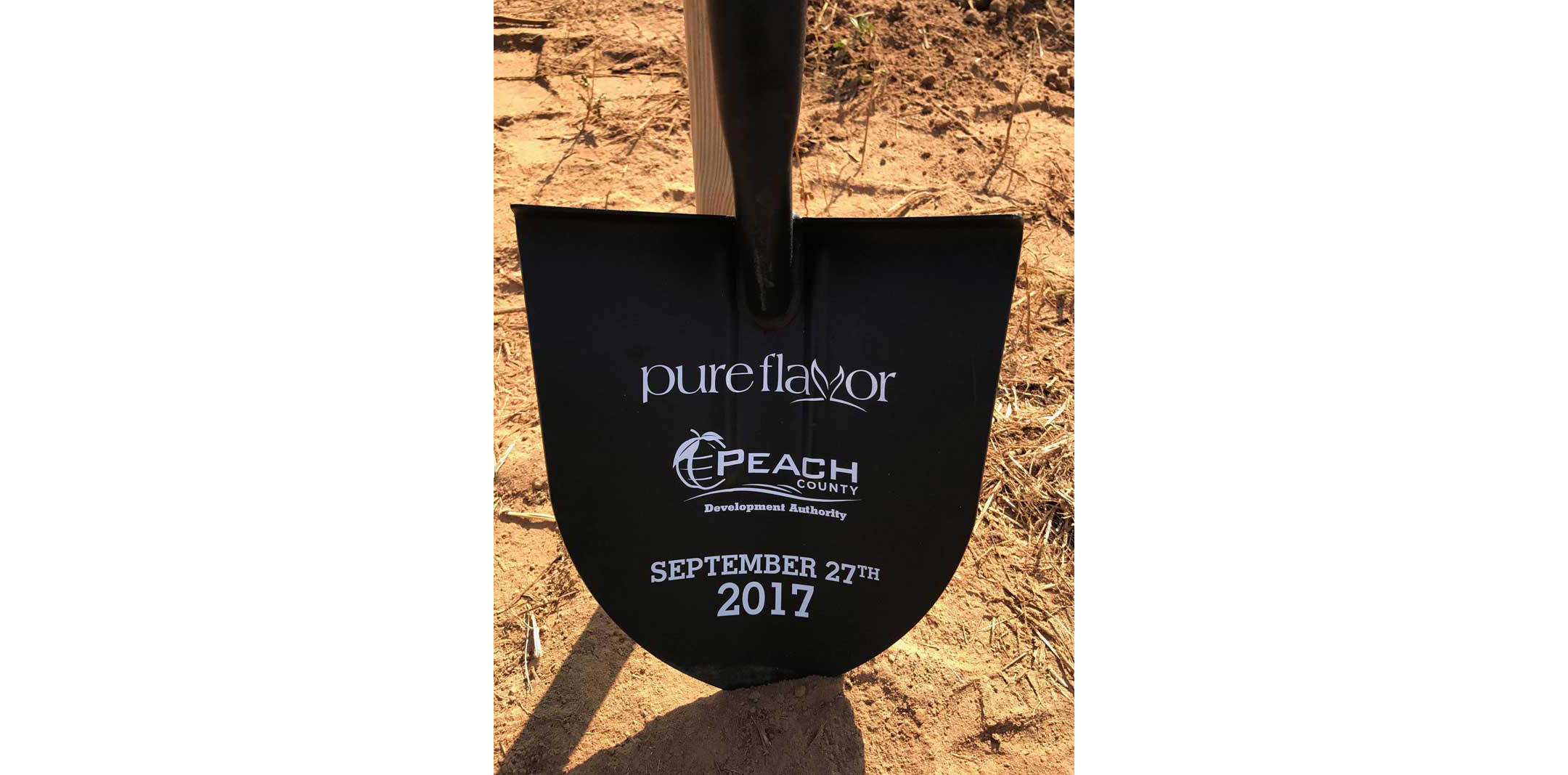 Pure Flavor Georgia greenhouse groundbreaking shovel
