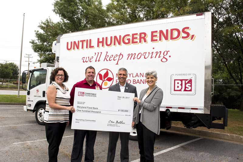 BJ's donation to the Maryland Food Bank
