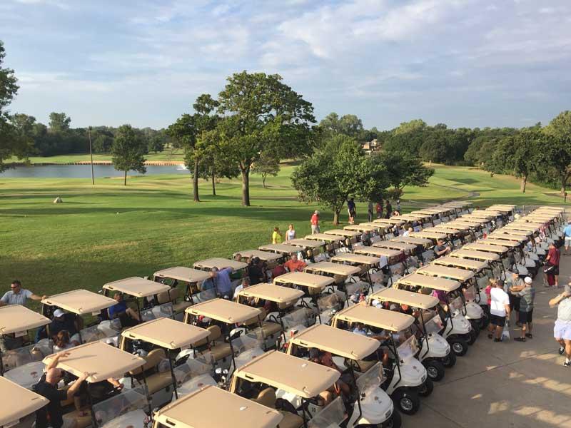 Crest Foods golf tournament carts