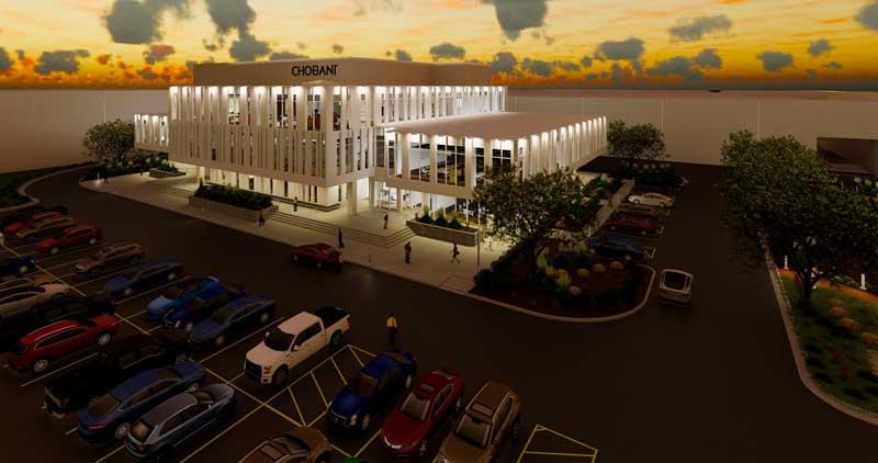 A rendering of Chobani's Twin Falls facility.