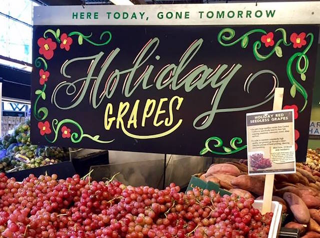 Holiday Grapes