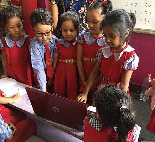 VERC Nepal computer donation