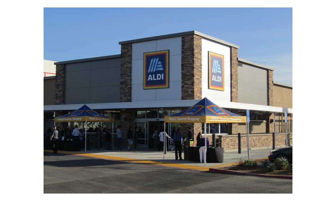 The new Aldi in La Habra, California.