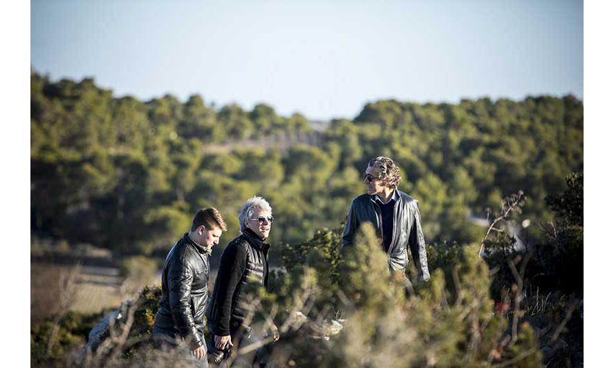Jesse Bongiovi, Jon Bon Jovi, and Gerard Bertrand.