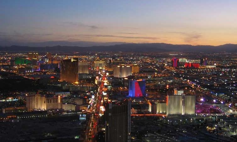 Las Vegas, Nevada, skyline.
