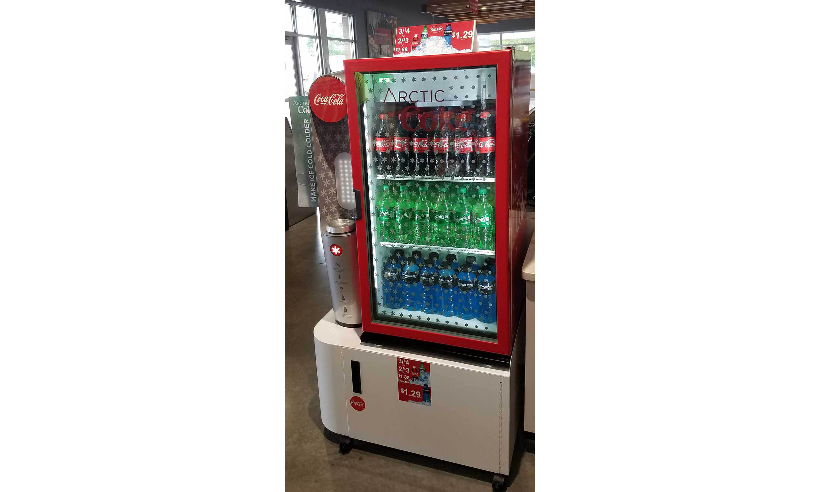 An Arctic Coke machine