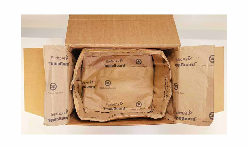 Sealed Air TempGuard insulated box liner.