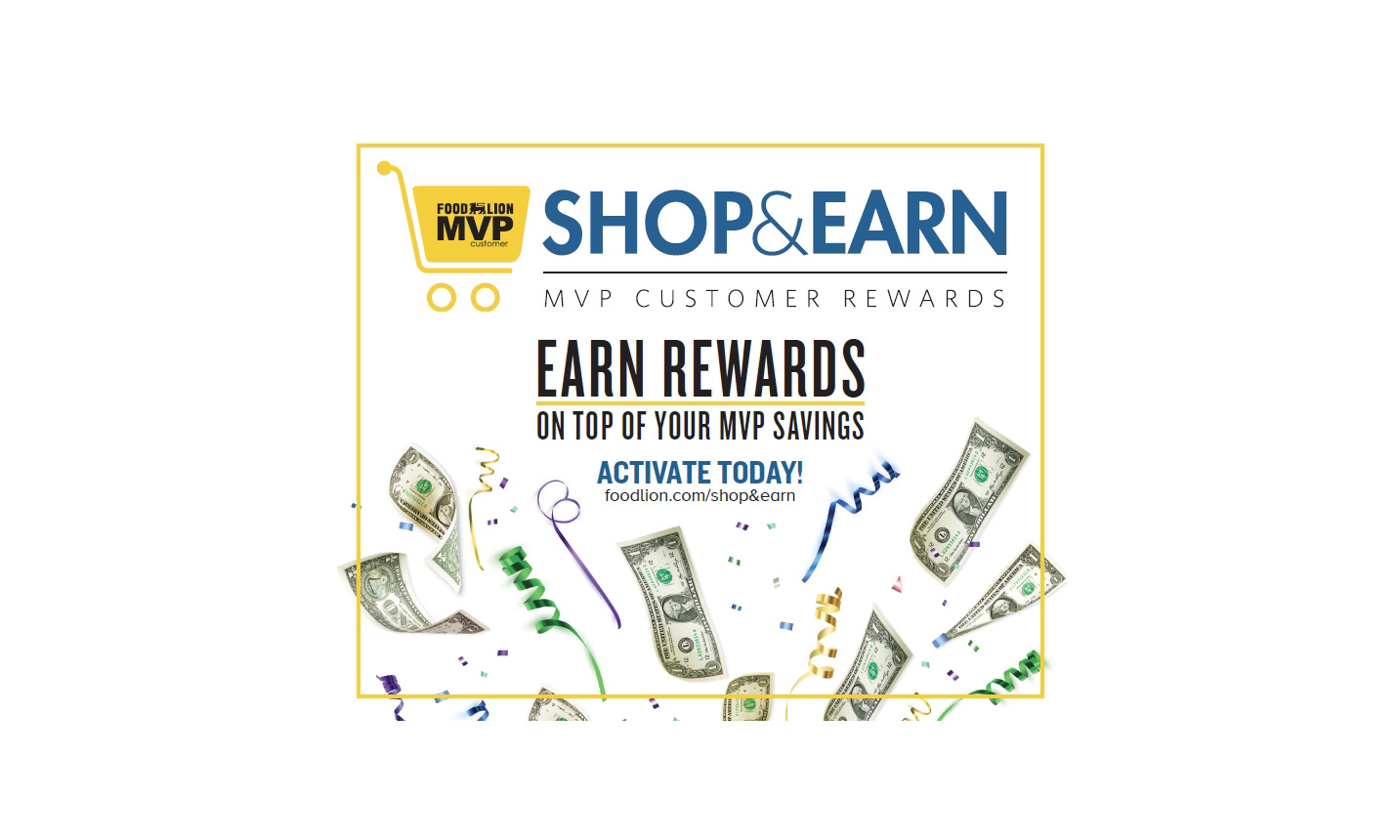 Food Lion Shop & Earn graphic