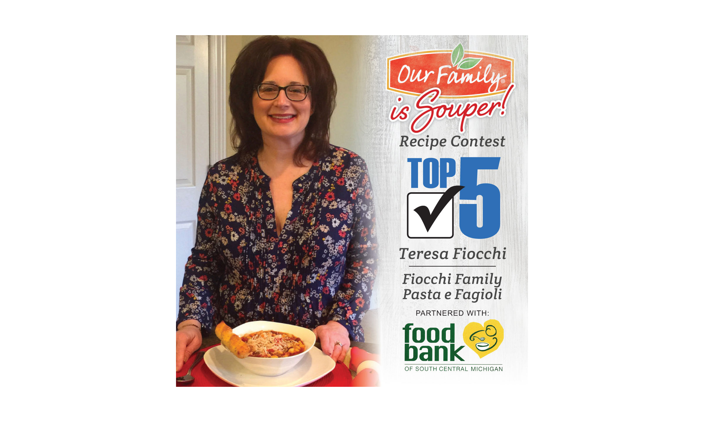Teresa Fiocchi and her Pasta e Fagioli soup.