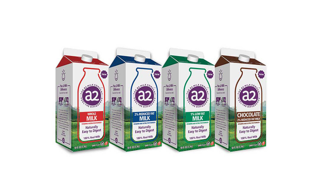 a2 Milk product lineup
