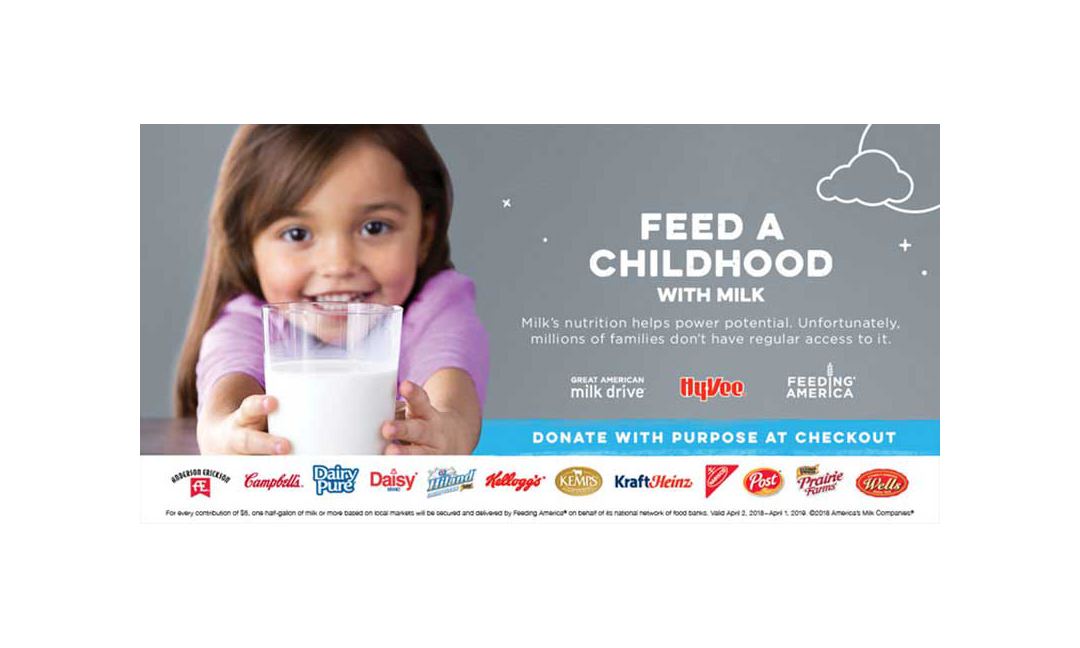 Hy-Vee milk drive promotion